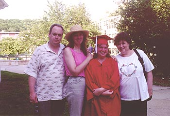 Pat, Lisa, Jen the grad, and Mom